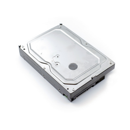 desktop hard disk drive on white background 版權商用圖片