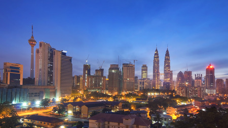 The Petronas Twin Towers at Dusk