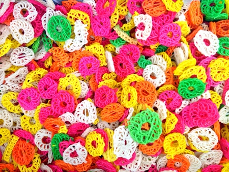 traditional textured: Colourful traditional snack