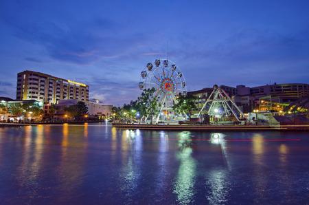 MALACCA, MALAYSIA - MARCH 23  Malacca eye on the banks of Melaka river on MARCH 23, 2014 in Malacca, Malaysia