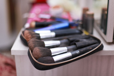 grooming product: a group of make up brush