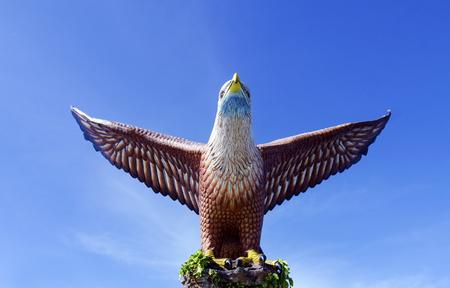 langkawi island: Eagle Statue, Symbol of Langkawi Island, Malaysia.