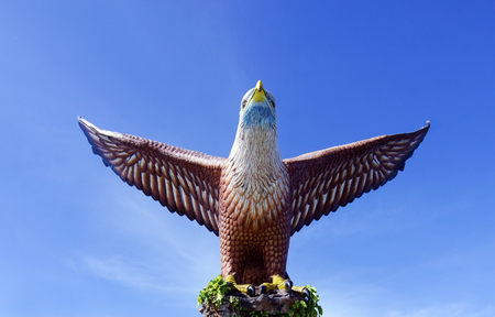 wingspread: Eagle Statue, Symbol of Langkawi Island, Malaysia.