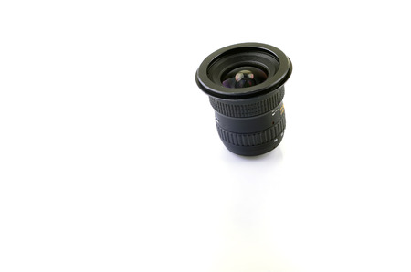 fixed line: Wide camera lens on white background.
