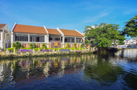 MELAKA, MALAYSIA - Hard Rock Care OCTOBER 29: Riverside on Oct 29, 2015 in Melaka, Malaysia. It is the old building on riverside