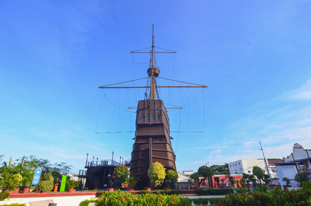 invader: MALACCA, MALAYSIA - Oct 13: Malacca Maritime Museum at Malacca city on Oct 13, 2015 in Malacca, Malaysia. Malacca has been listed as a UNESCO World Heritage Site since 7 July 2008.