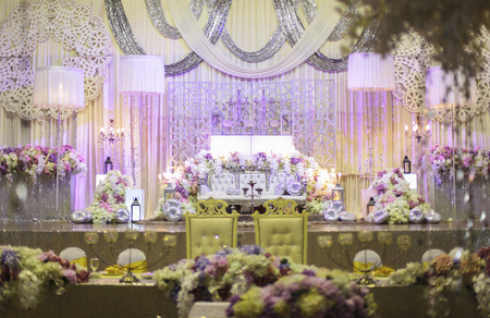 beautiful wedding stage. shallow dof. selective focus.