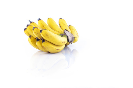 flesh colour: Bunch of bananas isolate on white background.