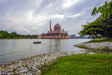 islamic prayer: Putra Mosque located in Putrajaya city the new Federal Territory of Malaysia Editorial