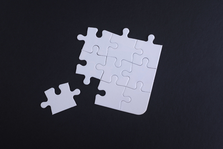 warranty questions: placing the last jigsaw puzzle piece with copyspace area.