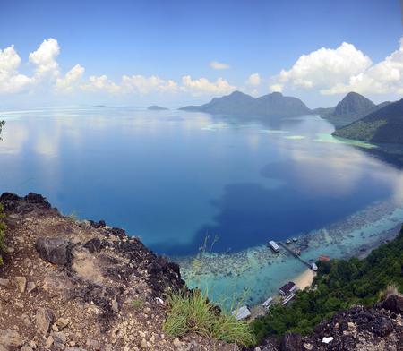 sipadan: Scenery on top of Bohey Dulang Island near Sipadan Island. Sabah Borneo, Malaysia.