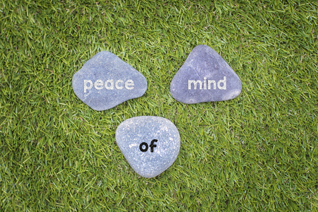 better living: Three stone with peace of mind concept. Stock Photo