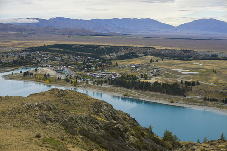 new, zealand, wanaka, lake, mountain, river, summer, view, valley, bloom, panorama, outdoors, sky, scenic, water, hill, meadow, mountain landscape, hiking trail, green, lakeside, field, south, sunny, scenery, grass, ecology, blossom, grassland, springtime Stock Photo
