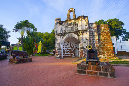 A Famosa Castle in Malacca. Stock Photo