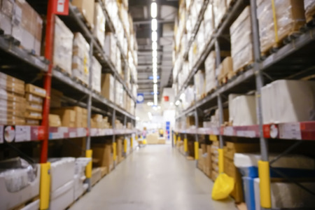 storehouse: Blurred Background Image of Shelf in Warehouse or Storehouse
