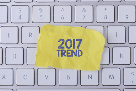 tendency: 2017 TREND card with information on the keyboard
