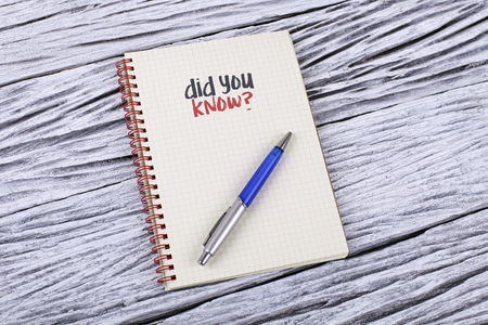 did: Did You Know? word on a notepad