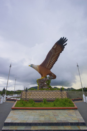 Beautiful sunset at Eagle Square, Dataran Lang is one of Langkawi�s best known man-made attractions, a large sculpture of an eagle poised to take flight.