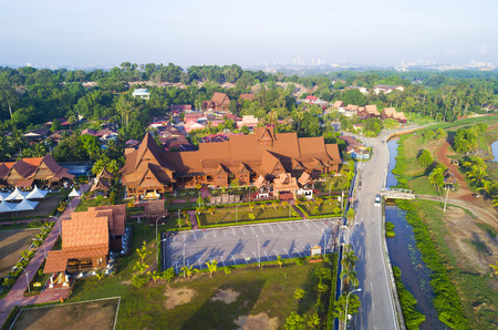 MALACCA, MALAYSIA -MARCH 09, 2014: Arial View of Hang Tuah museum in Malacca