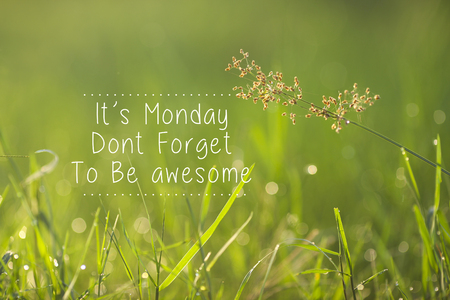 Monday inspirational greeting - Its Monday, don't forget to be awesome. 版權商用圖片