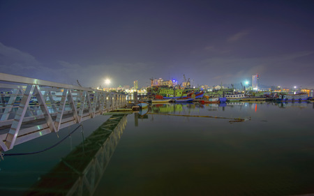 Night scenery of Fisherman jetty at Kuala Terengganu