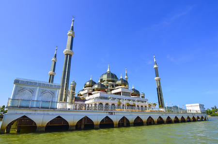 Masjid (Mosque) Kristal in Kuala Terengganu, Malaysia.