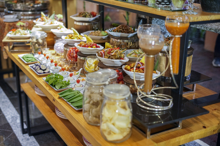 Various type of dessert at hotel for ramadhan buffet