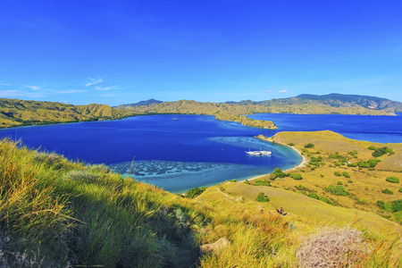 Aerial view of Gili Lawa Island, Flores