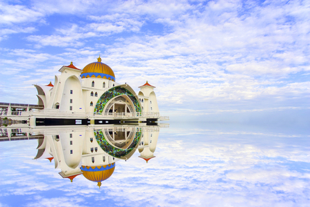Majestic view of Malacca Straits Mosque