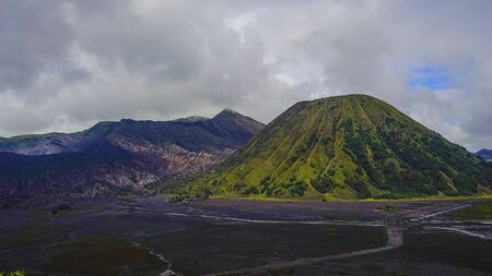 Aerial view of Mount Bromo, Indonesia