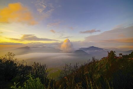 Mount Bromo, is an active volcano and part of the Tengger massif, in East Java, Indonesia. Stok Fotoğraf