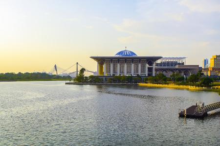 Sunset view of Sultan Mizan Mosque at Putrajaya