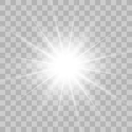 Glow light burst explosion with transparent. Vector illustration for cool effect decoration with ray sparkles. Bright star. Transparent shine gradient glitter, bright flare. Glare texture
