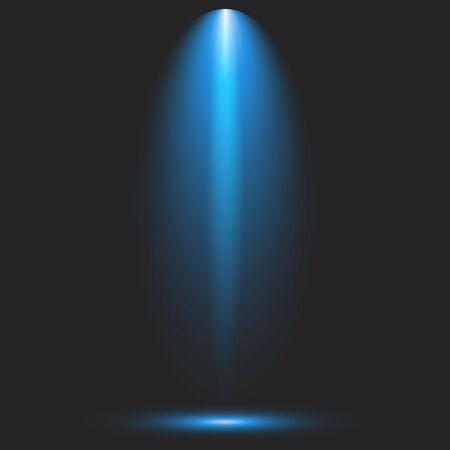 Kolekcja iluminacji scen, efekty przezroczystości. Jasne oświetlenie punktowe.