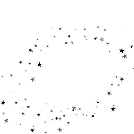 Étoiles sur fond blanc. Étoile noire tirant avec une étoile élégante: météorite, comète, astéroïde, étoiles.