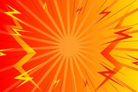 Pop art comic background lightning blast halftone dots. geometric concept vector abstract design.
