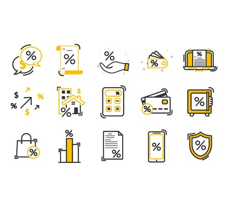Simple Set of Loan Related Vector Line Icons. Credit Card, Deposit and more. Editable Stroke. Premium symbols