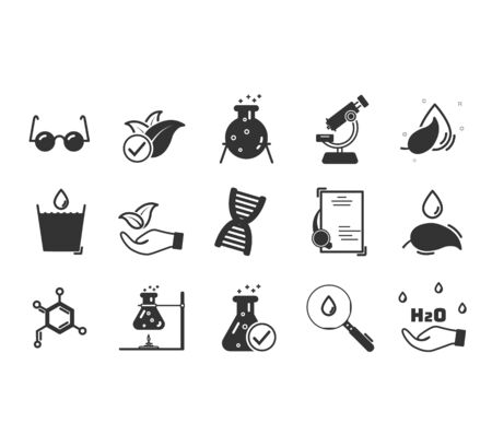 Set of icons for different medical specialization.  Hypoallergenic tested, Neutral ph. Linear set. Vector