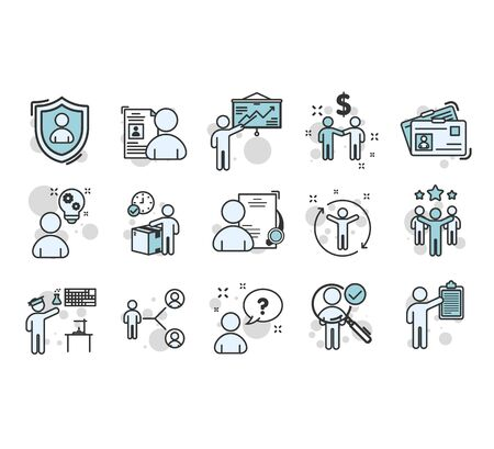 Simple Set of Time Management Related Vector Line Icons. teamwork to success concept. Vector illustration EPS10 Illustration