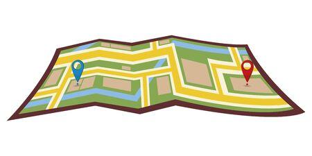 navigazione della mappa della città. Posizione. Indirizzo sposta cambia posizione