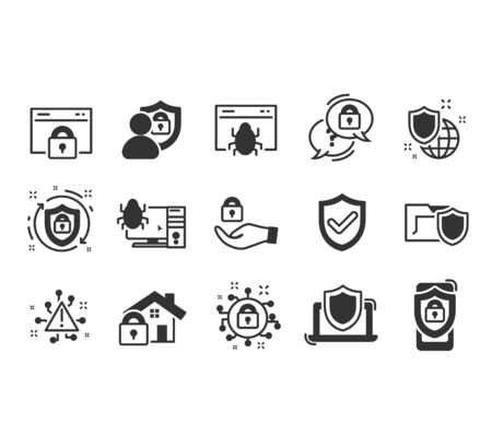 Simple Set of Data Security Related Vector Line Icons. Vector illustration EPS10