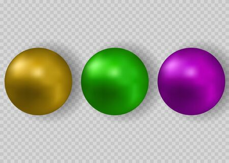 Colorful Vector Photo Realistic Set Of Balls - Pills. Vector illustration EPS10 Stock Illustratie