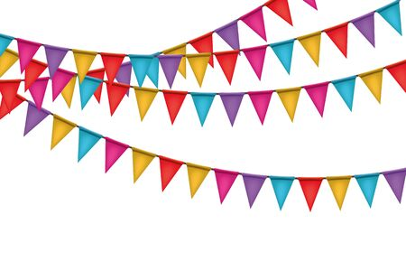 Carnival garland realistic style background, for scrapbooking parties, spring, Easter, birthday.