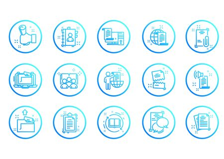 Set of Legal Documents Related Vector Line Icons. Thin line vector set of signs for infographic, app development and website design Stockfoto - 142114435