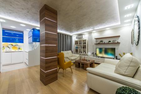 modern living: Beautiful modern living room interior