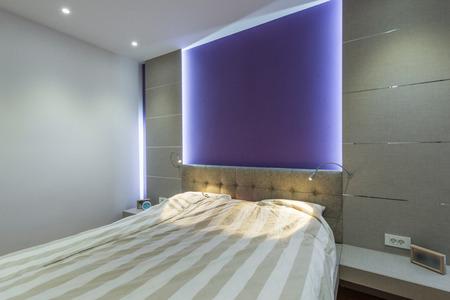 luxury bedroom: Interior of exclusive bedroom in luxury mansion