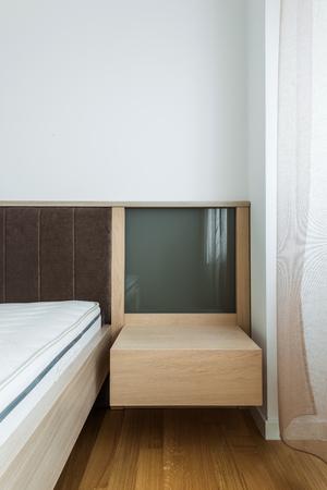 nightstand: Nightstand in bedroom interior Stock Photo