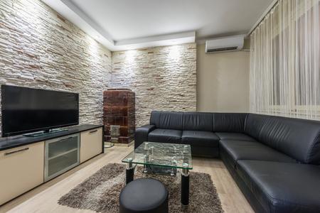 antique furniture: Interior of modern living room Stock Photo