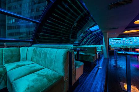 DIscotheque or caffe bar interior