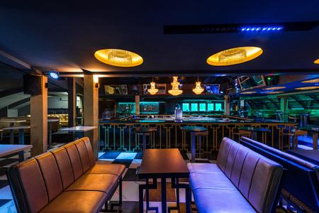 Interior designe of luxury discotheque Stock Photo